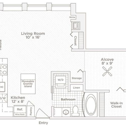 convertible V1 floor plan