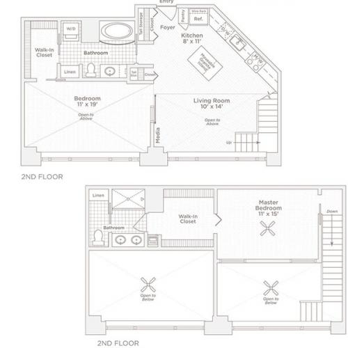 two bedroom two bath C8 floor plan