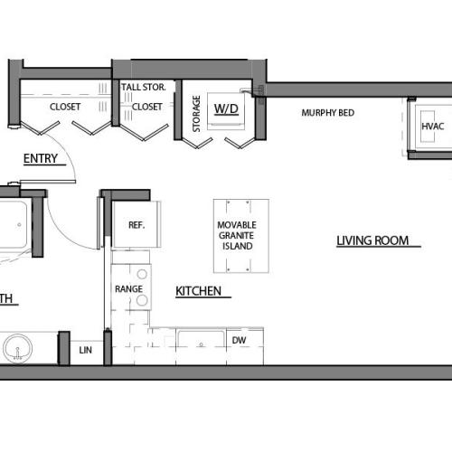 studio S floor plan