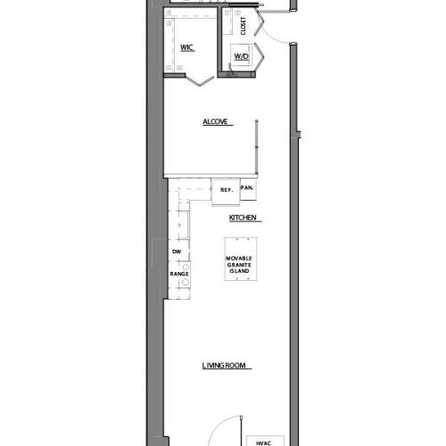 convertible V floor plan