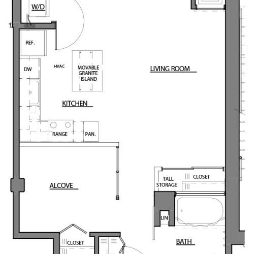 convertible V1 floor plan