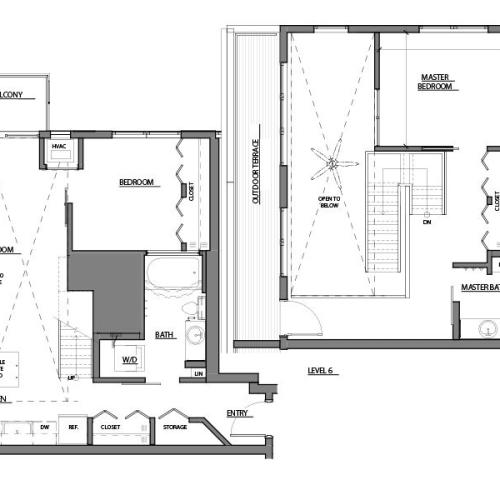 two bed two bath C5 floor plan