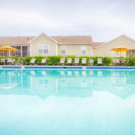 Pool at apartments near RTP