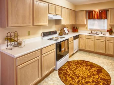 kitchen at Crosstimbers Apartments