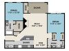 Two bedroom apartment in North Raleigh NC