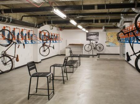 Edisons Bike Storage Space