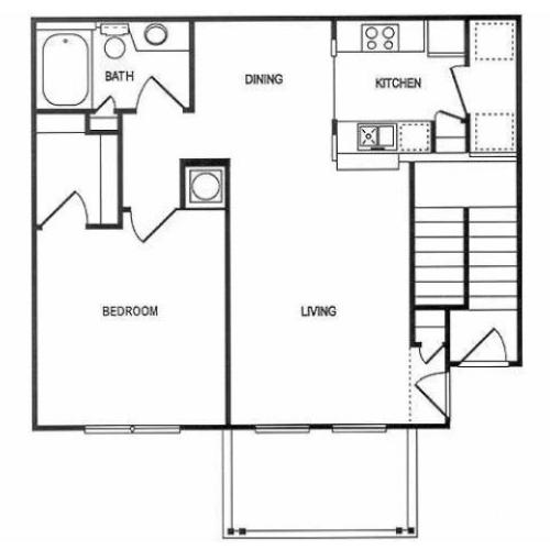 1 Bedroom Floor Plan | Spotswood Commons