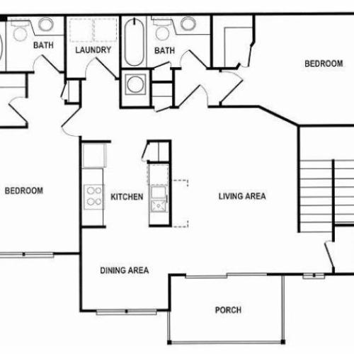 2 Bedroom Floor Plan   Spotswood Commons