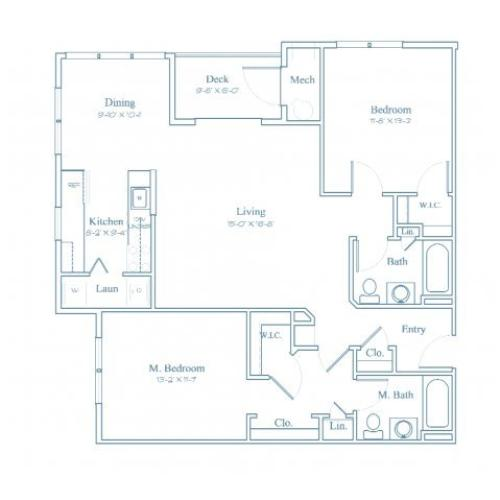 Floor Plan 5 | Apartment For Rent In Bedford MA | Heritage at Bedford Springs