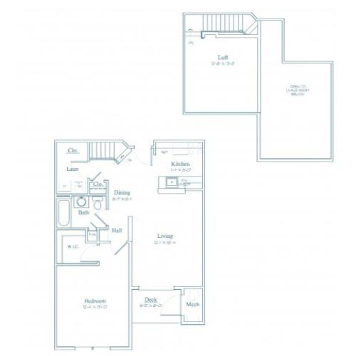 Floor Plan 3 | Apartments Burlington MA | Heritage at Bedford Springs