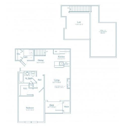 Floor Plan 4 | Bedford Massachusetts Apartments | Heritage at Bedford Springs