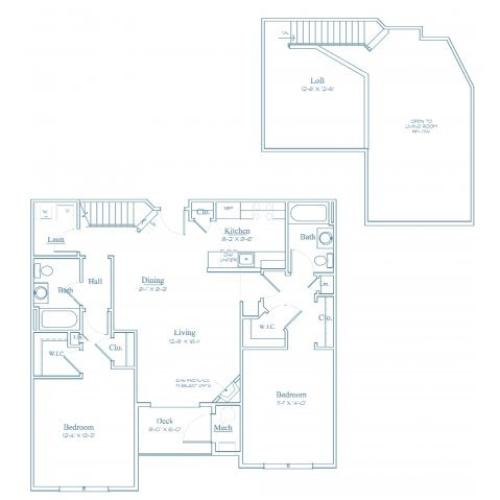 Floor Plan 11 | Apartments In Bedford MA | Heritage at Bedford Springs