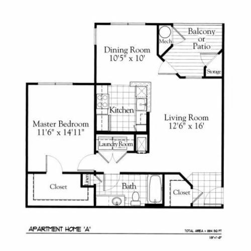 Floor Plan | The Gates of Owings Mills