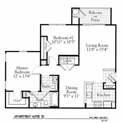 Floor Plan 2 | The Gates of Owings Mills