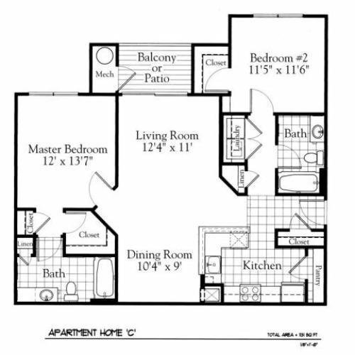 Floor Plan 3 | The Gates of Owings Mills