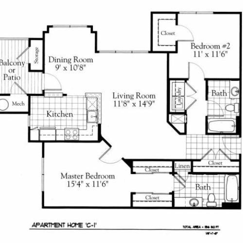 Floor Plan 4 | The Gates of Owings Mills