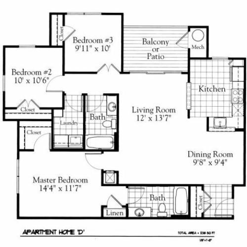 Floor Plan 5 | The Gates of Owings Mills