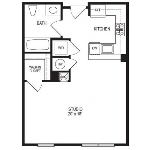 Studio Floor Plan | Rumney Flats