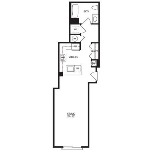 Studio Floor Plan | Rumney Flats 2