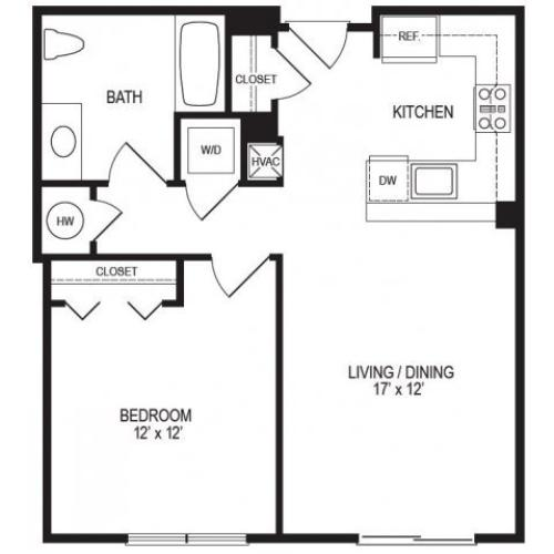 1 Bedroom Floor Plan | Rumney Flats 4