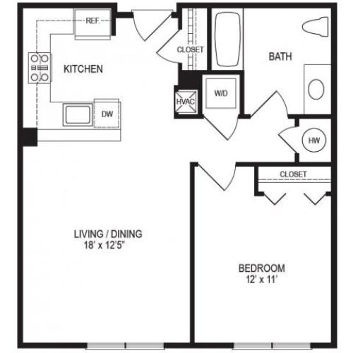 1 Bedroom Floor Plan | Rumney Flats 6