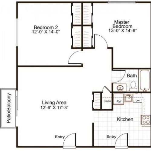 Floor Plan 2 | Greenview Village 4