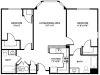 2 Bdrm Floor Plan | New Apartments In Franklin MA | Union Place Apartments