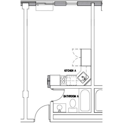 Floor Plan 1 | Apartments for rent in Downtown Baltimore | The 501