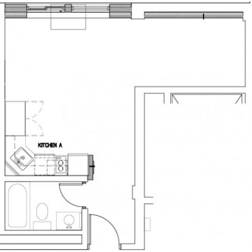 Floor Plan 2 | Baltimore MD Downtown Apartments | The 501