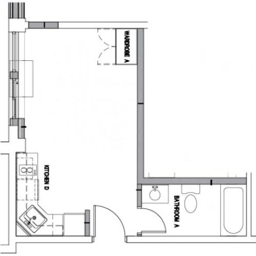 Floor Plan 3 | Baltimore Downtown Apartments | The 501