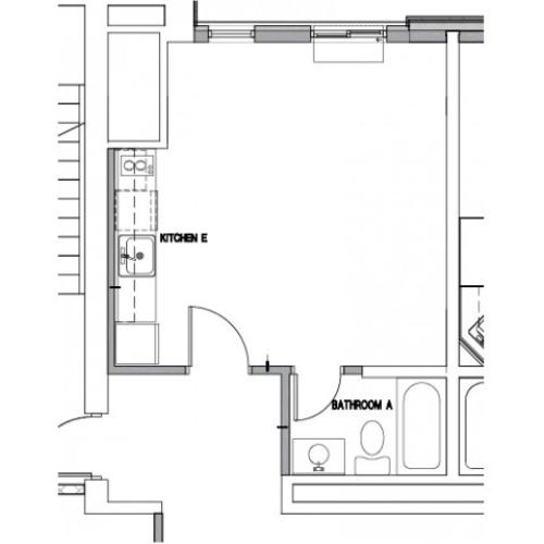Floor Plan 4 | Downtown Baltimore MD Apartments | The 501