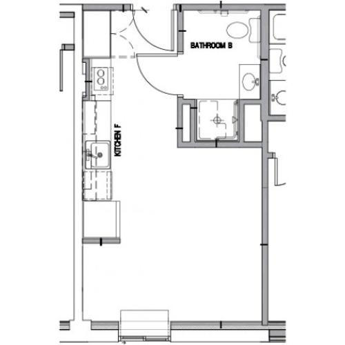 Floor Plan 6 | Apartments in Downtown Baltimore | The 501