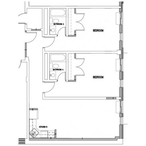Floor Plan 8 | Baltimore MD Downtown Apartments | The 501