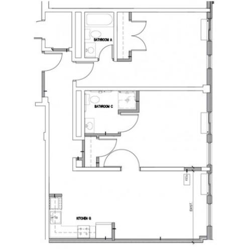 Floor Plan 9 | Baltimore Downtown Apartments | The 501