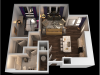 A 1 Bedroom Floor Plan   Towson Luxury Apartments   The Southerly