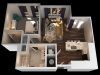 F 1 Bedroom Floor Plan | Towson Luxury Apartments | The Southerly