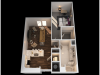 G 1 Bedroom Floor Plan | Towson Luxury Apartments | The Southerly