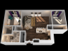 AD 1 Bedroom Floor Plan | Towson Luxury Apartments | The Southerly