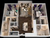 B 2 Bedroom Floor Plan   Luxury Apartments In Towson MD   The Southerly