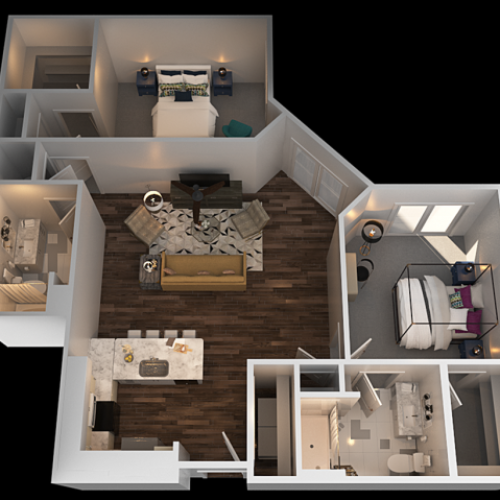 G 2 Bedroom Floor Plan | Luxury Apartments In Towson MD | The Southerly