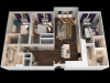A 3 Bedroom Floor Plan   Luxury 2 Bedroom Apartments Towson MD   The Southerly