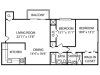 2 Bdrm Floor Plan | Apartments For Rent Milford MA | Rolling Green 2
