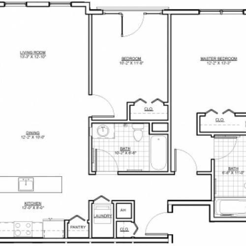 Floor Plan 10 | Apartments Chelsea MA | Wellington Parkside