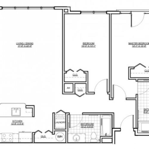 Floor Plan 11 | Apartments Everett MA | Wellington Parkside