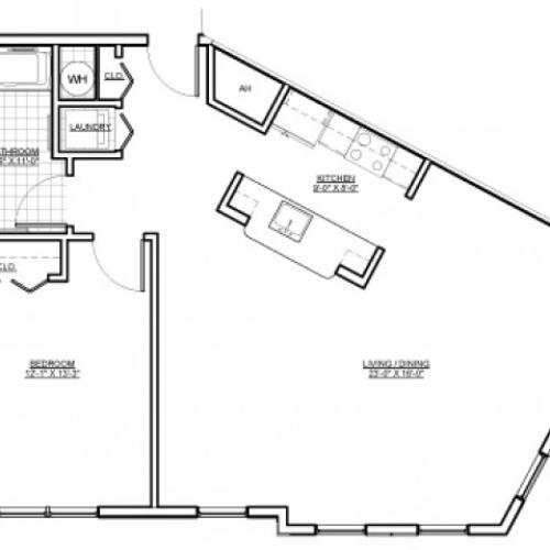 Floor Plan 3 | Luxury Apartments Medford MA | Wellington Parkside