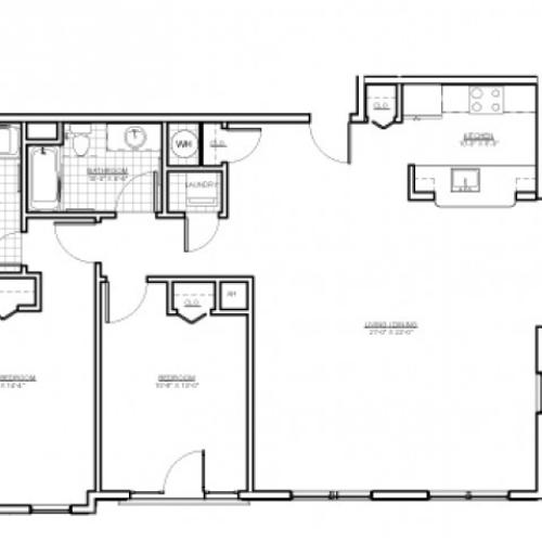 Floor Plan 12 | Everett MA Apartments | Wellington Parkside