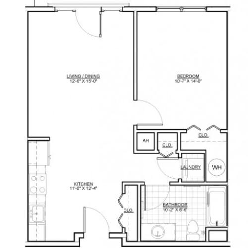 Floor Plan 5 | Apartments Chelsea MA | Wellington Parkside