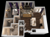D 1 Bedroom Floor Plan | Towson Luxury Apartments | The Southerly