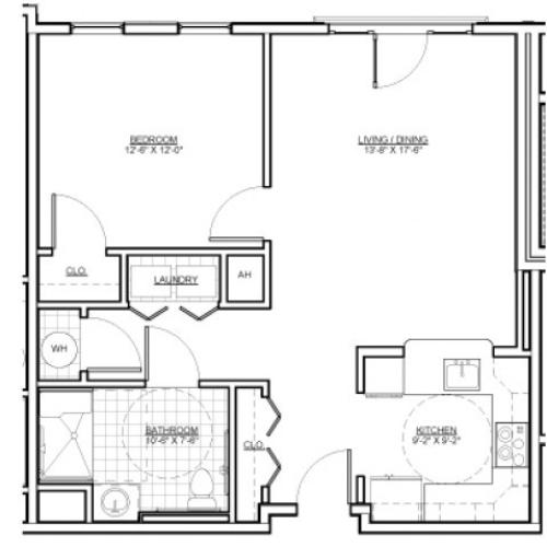 Floor Plan 7 | Everett MA Apartments | Wellington Parkside