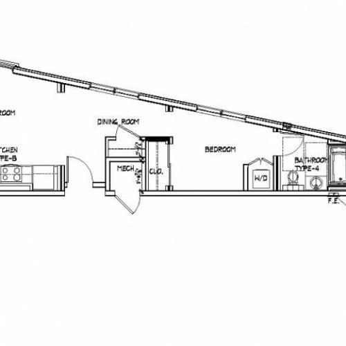 Diverse Floor Plans | Brighton Allston Apartments | Trac 75